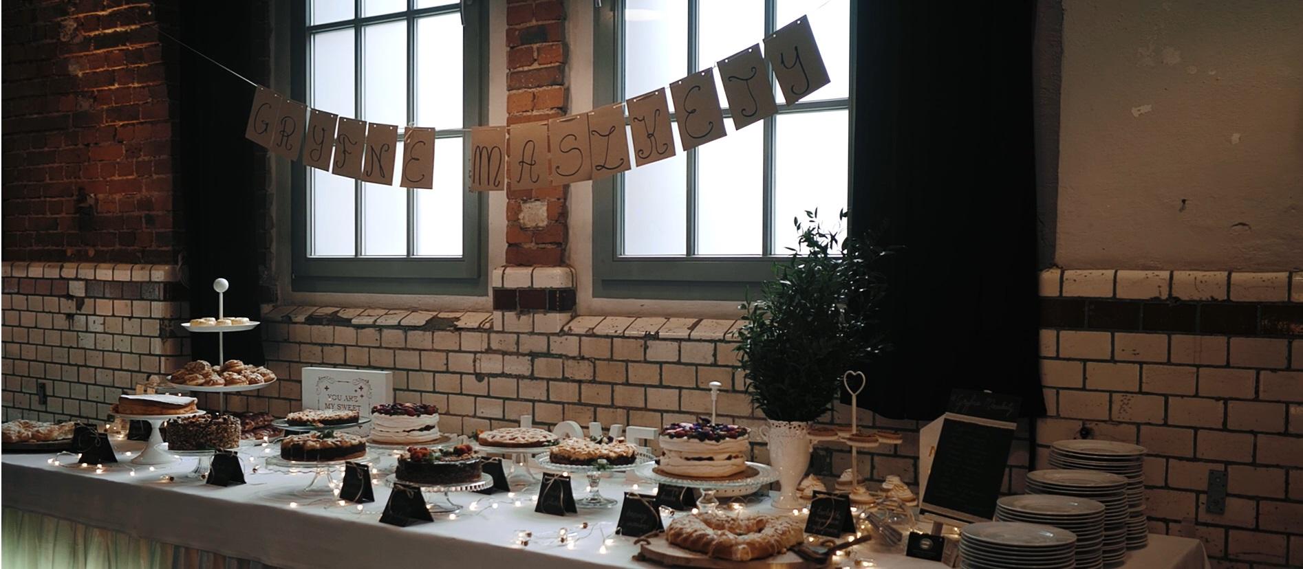 gryfne maszkety słodki stół michalski na weselu katowice śląsk