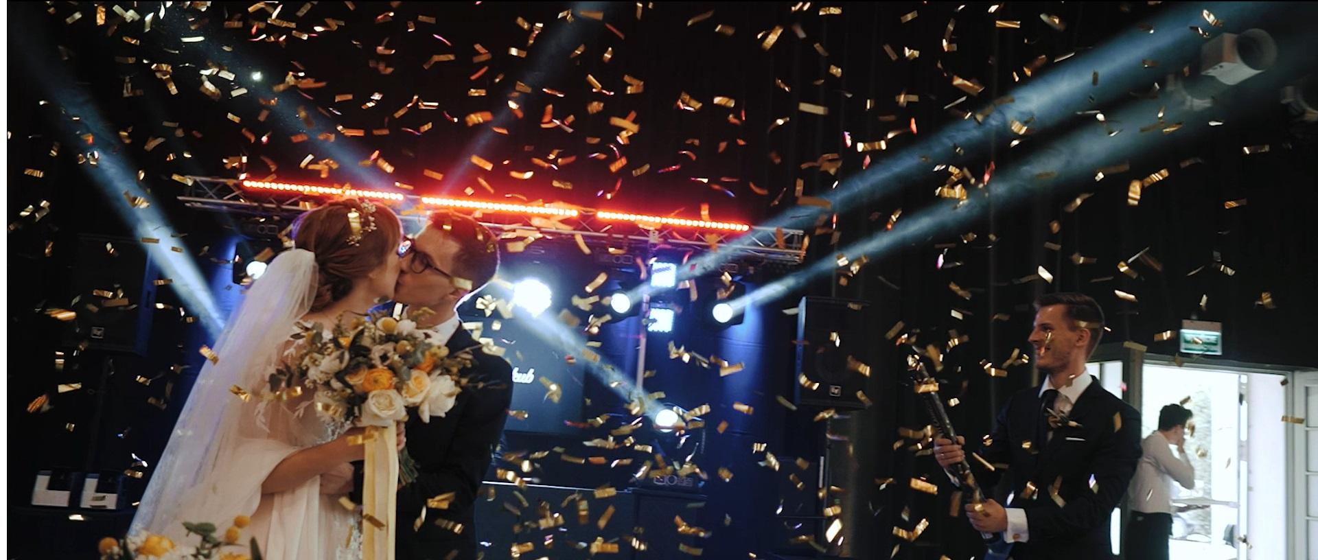 konfetii płatki wesele śląsk pierwszy taniec katowice